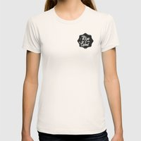 Rise And Grind Womens Fitted Tee Natural SMALL
