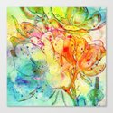 bright floral Canvas Print