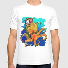 The Octopus and the Chicken Mens Fitted Tee White SMALL
