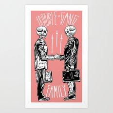 TROUBLE SHAKE Art Print