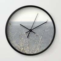 Branches at the sea Wall Clock