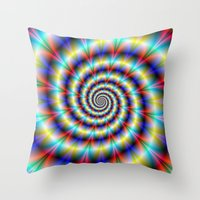 Psychedelic Twist Throw Pillow