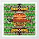 Alaska Burger Art Print