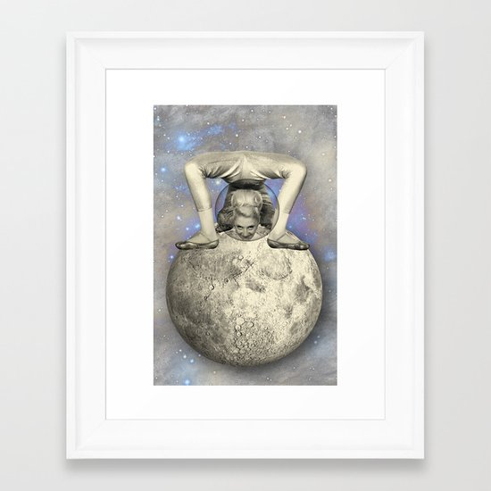 COSMIC CONTORTIONIST Framed Art Print