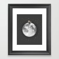 Lost In A Space / Moonel… Framed Art Print