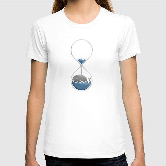 whale hourglass T-shirt