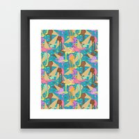 Meltin'  Icecreams Framed Art Print
