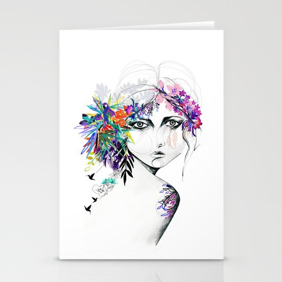 Exotic Girl Stationery Card
