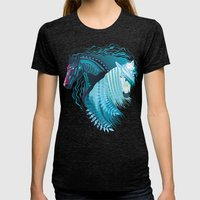 Wild Horses Womens Fitted Tee Tri-Black SMALL