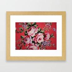 Floral Dress Framed Art Print