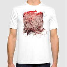 Surreal Red Harmony Mens Fitted Tee SMALL White