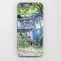 iPhone Cases featuring Lost car in France - Parked for eternity by Premiumfotograf