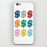 Colourful Money iPhone & iPod Skin