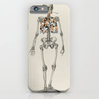 iPhone & iPod Case featuring Skeletons Smoking by Marko Köppe