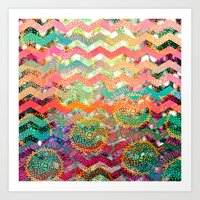 New World Chevron Spring… Art Print