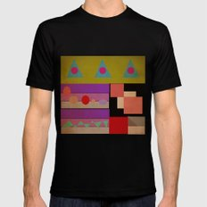geometric Mens Fitted Tee SMALL Black