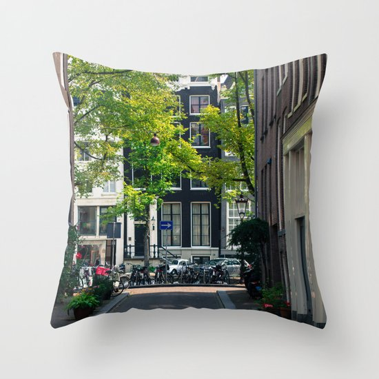 Streetlife  Throw Pillow