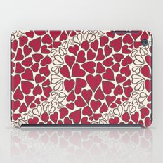 HEARTS  ~  CRIMSON & CLEAR iPad Case