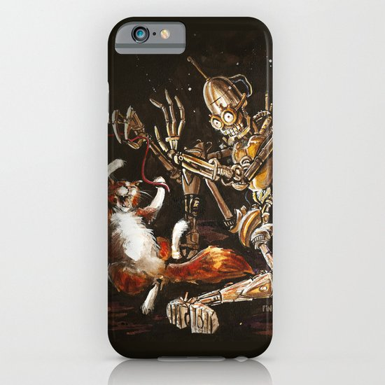Robot and Cat in the Wild iPhone & iPod Case