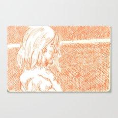 subway woman IX Canvas Print