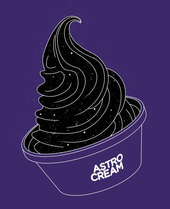 Astro Cream Art Print