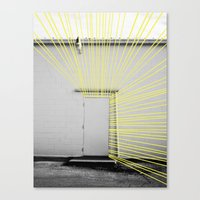 White Door, Yellow Prism Canvas Print