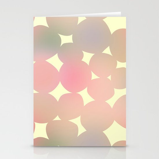 ombre pebbles Stationery Card