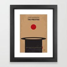 No381 My The Prestige minimal movie poster Framed Art Print