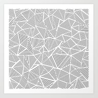 Art Print featuring Abstraction Linear Inver… by Project M