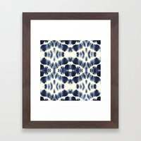 BOHEMIAN INDIGO BLUE Framed Art Print