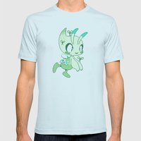 Pixel Celebi Mens Fitted Tee Light Blue SMALL