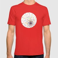 Sunspots Mens Fitted Tee Red SMALL