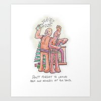 Don't Forget To Leave Ou… Art Print