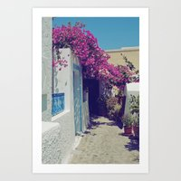 Santorini Walkway VI Art Print
