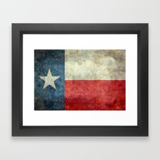 Texas flag - Retro 1 Framed Art Print