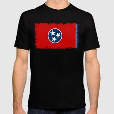 State flag of Tennessee - Authentic version SMALL Black Mens Fitted Tee
