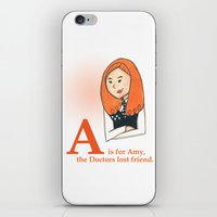 A is for Amy iPhone & iPod Skin