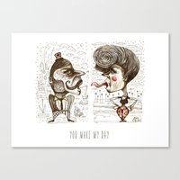 YOU MAKE MY DAY Canvas Print