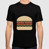 #62 Hamburger Mens Fitted Tee Black SMALL