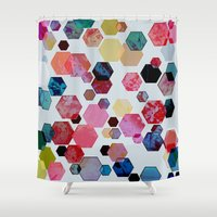 C13 Construct Hex V1 Shower Curtain