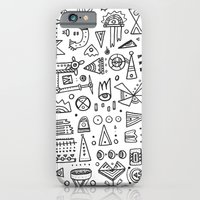 Triangle doodles iPhone 6 Slim Case