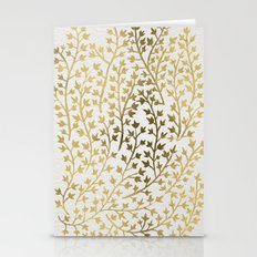 Gold Ivy Stationery Cards