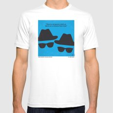 No012 My Blues brothers minimal movie poster Mens Fitted Tee White SMALL