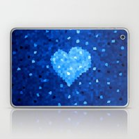 Winter Blue Crystallized Abstract Heart Laptop & iPad Skin