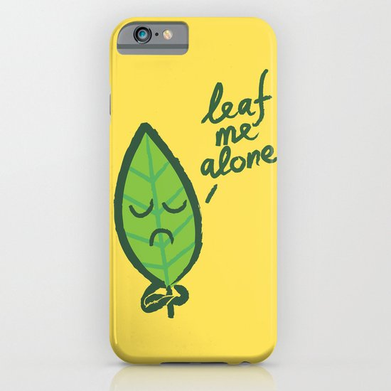 The introvert leaf iPhone & iPod Case