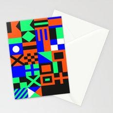 Nautical Alphabet Inverted CMYK Stationery Cards
