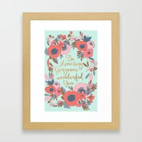 Be Amazing Framed Art Print