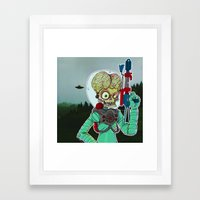 MARS ATTACKS Framed Art Print