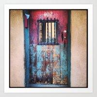 Colorful Door, Santa Fe Art Print