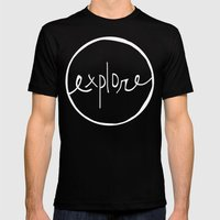 Explore Oregon Mens Fitted Tee Black SMALL